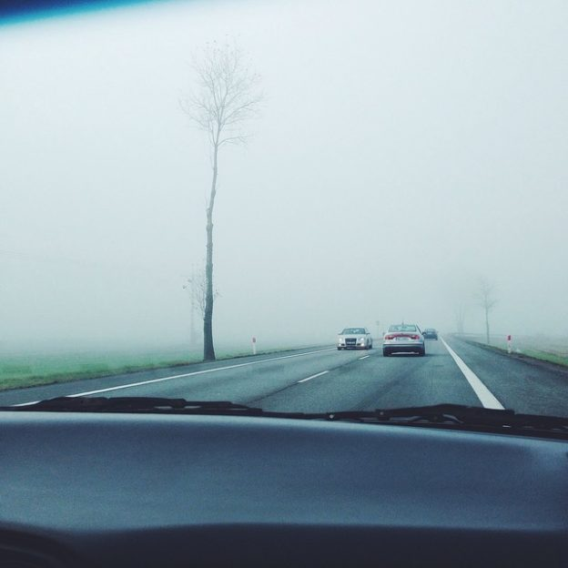 foggy windshield